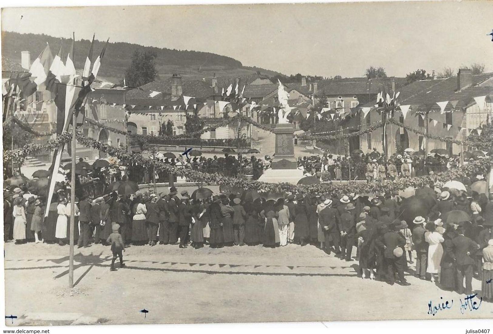 CHATENOIS (88) Carte Photo Place Monument Aux Mortscérémonie Belle Animation - Chatenois