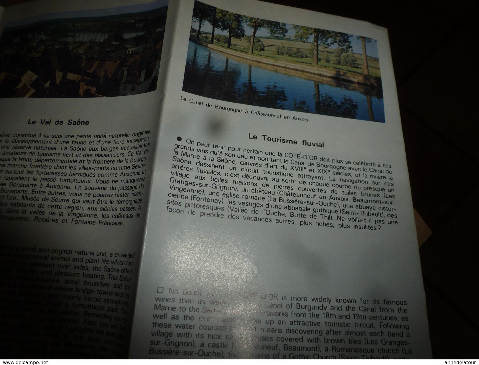 Côte D'Or ----> Au Coeur De La BOURGOGNE (Vallée De L'Ouche,Morvan,Auxois,Val De Saône,Tourisme Fluvial,etc) - Tourism Brochures