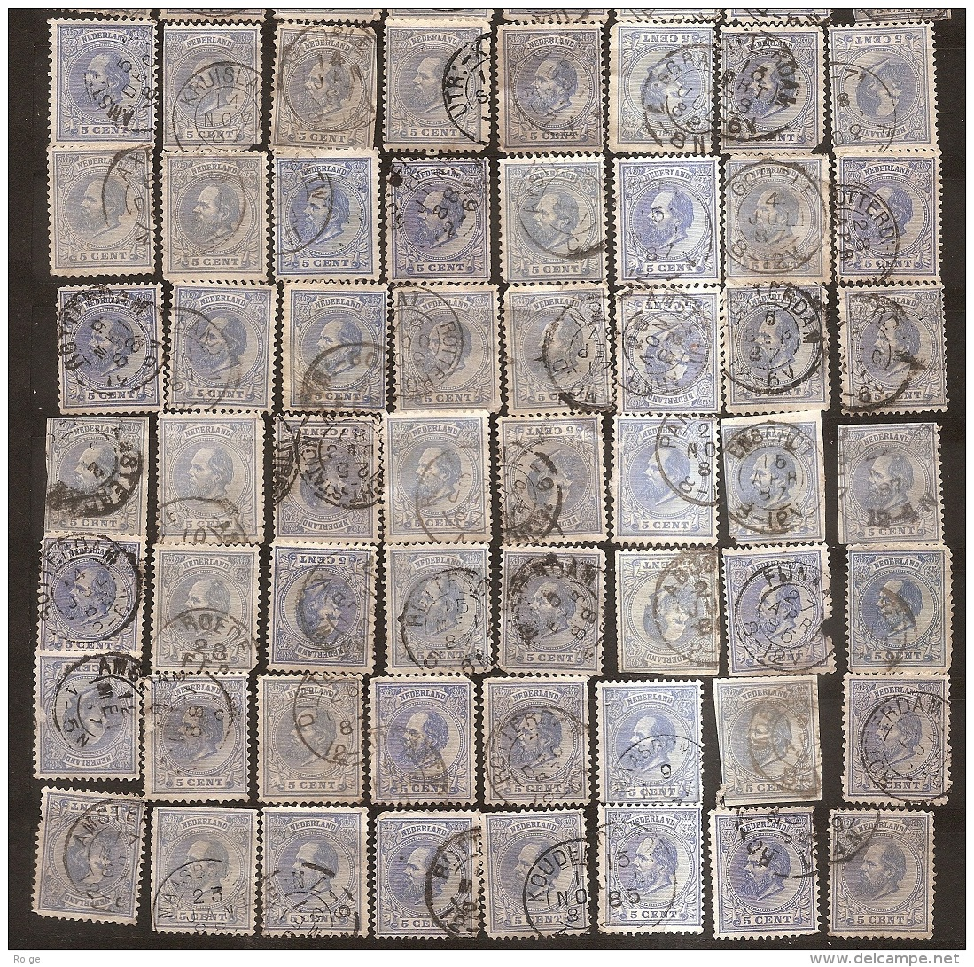 BR-8613   Stempelverzameling Rondstempels Met Enkele Betere Stempels Doch Kwaliteit Na Te Zien , Meerdere Scans - Period 1852-1890 (Willem III)