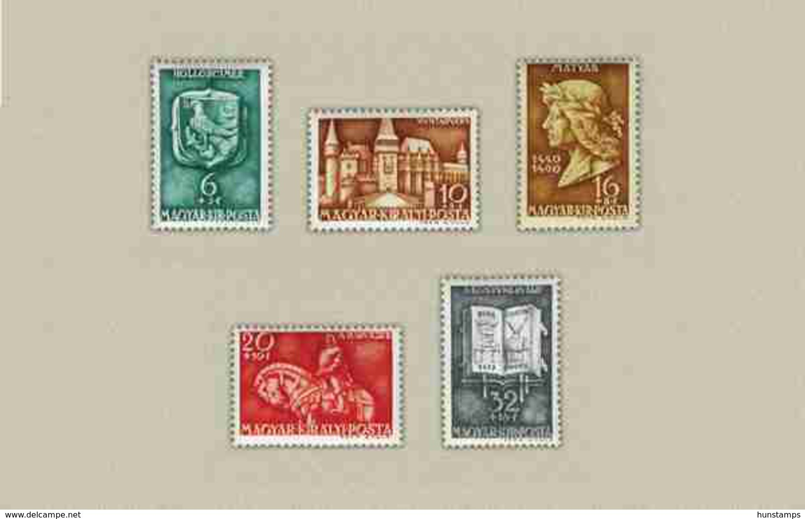 Hungary 1940. Konig Matthias Nice Set MNH (**) Michel: 633-637 / 4.20 EUR - Ungarn