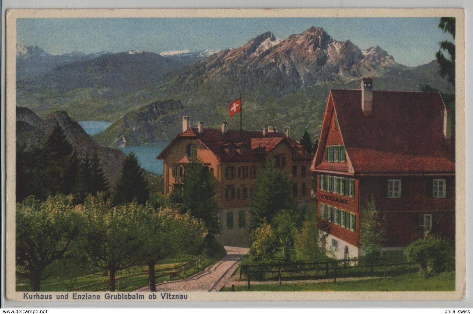 Kurhaus Und Enziane Grubisbalm Ob Vitznau - Photo: Globetrotter - LU Lucerne