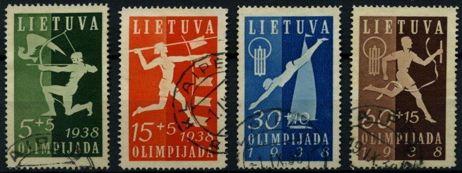 LITAUEN 417-20 O, 1938, Nationale Sportspiele, Prachtsatz, Mi. 60.- - Lithuania