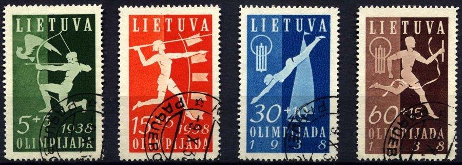 LITAUEN 417-20 O, 1938, Nationale Sportspiele, üblich Gezähnter Prachtsatz, Mi. 60.- - Lithuania