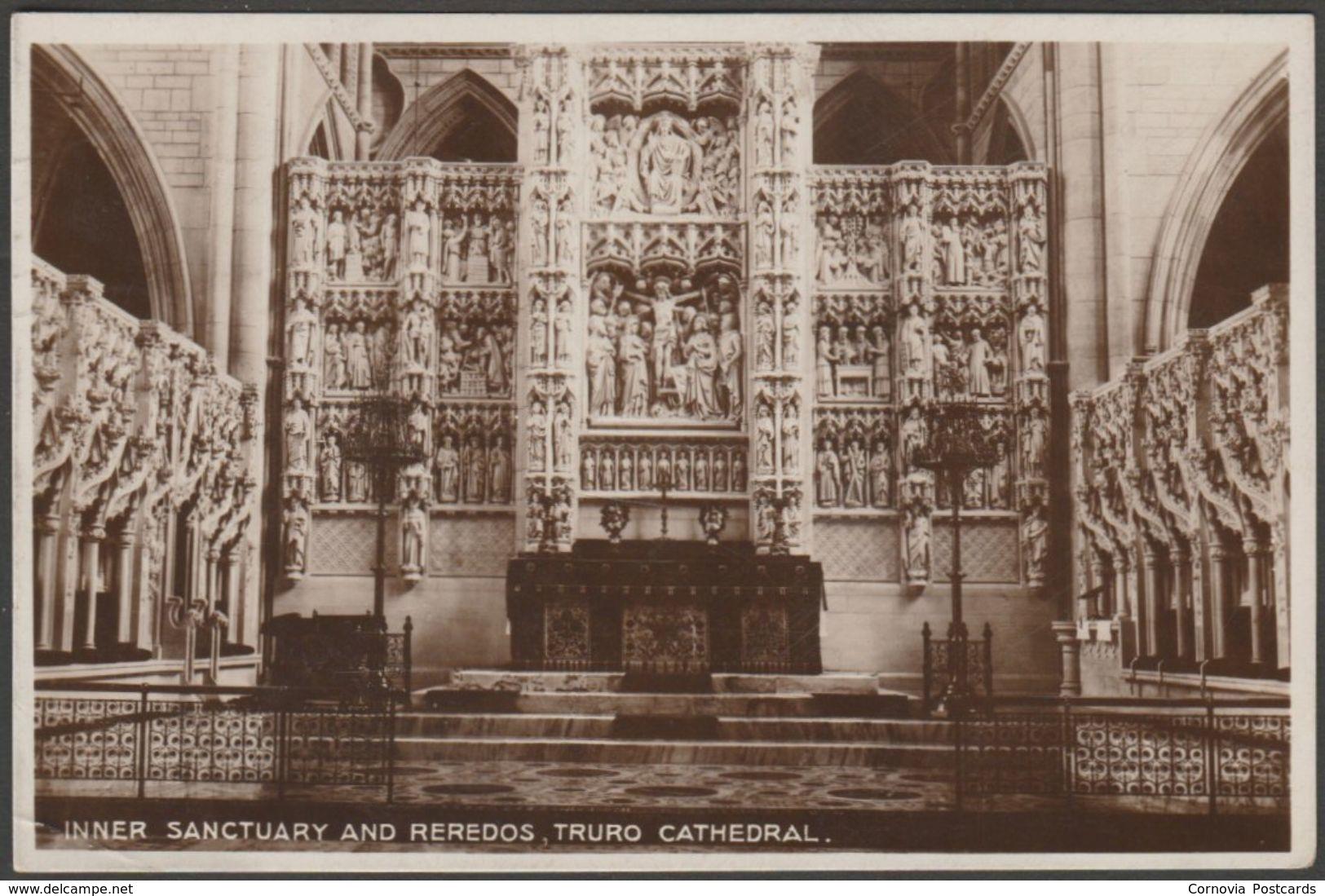 Inner Sanctuary & Reredos, Truro Cathedral, Cornwall, 1930 - Milton RP Postcard - England