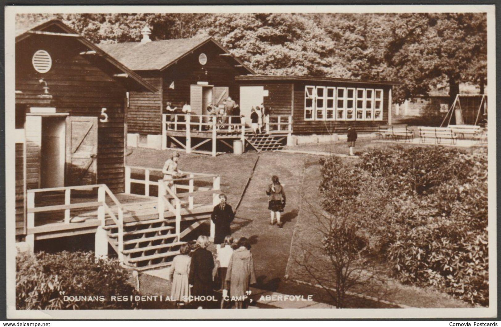 Dounans Residential School Camp, Aberfoyle, Perthshire, 1960 - Valentine's RP Postcard - Perthshire