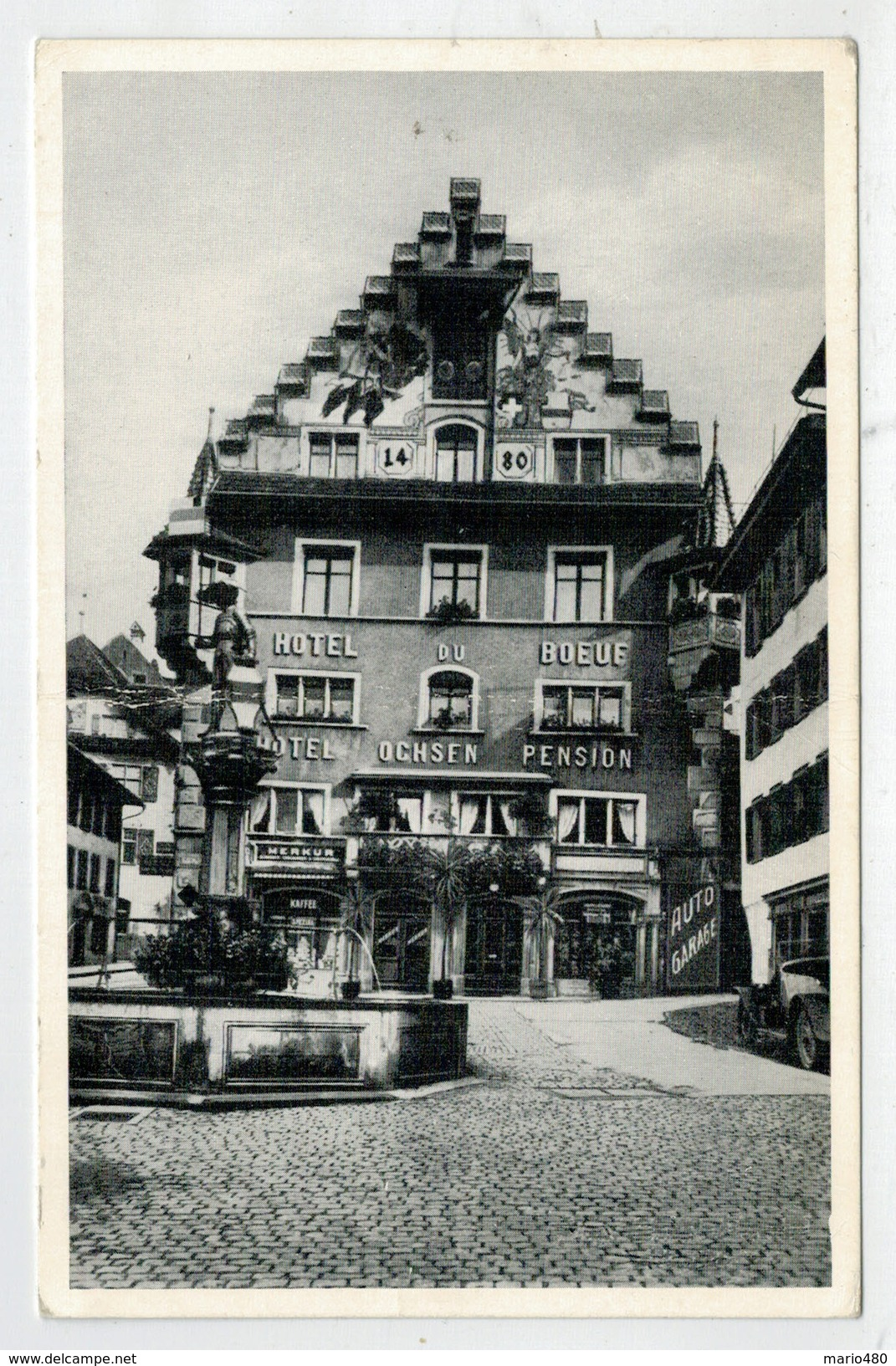C.P.  PICCOLA    HOTEL  RSTAURANT  OCHSEN   ZUG      2  SCAN  (NUOVA) - ZG Zoug
