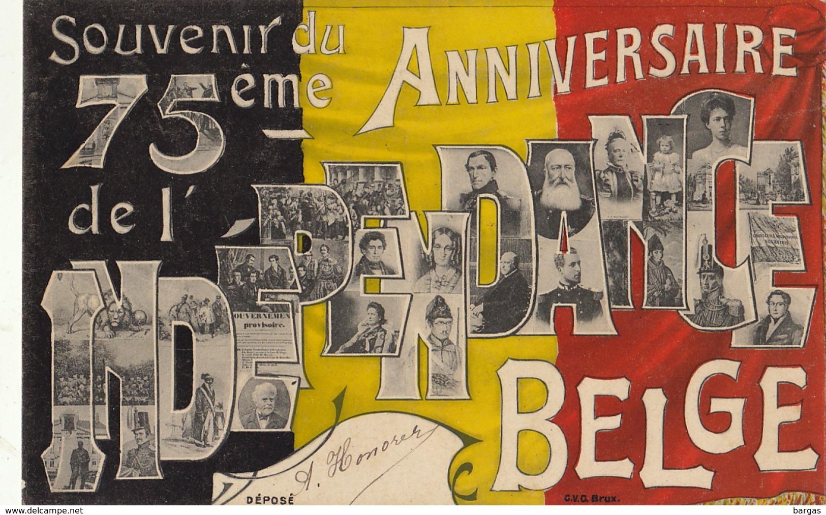 Royaume De Belgique 75 èm Anniversaire De L'indépendance Nationale - Belgique