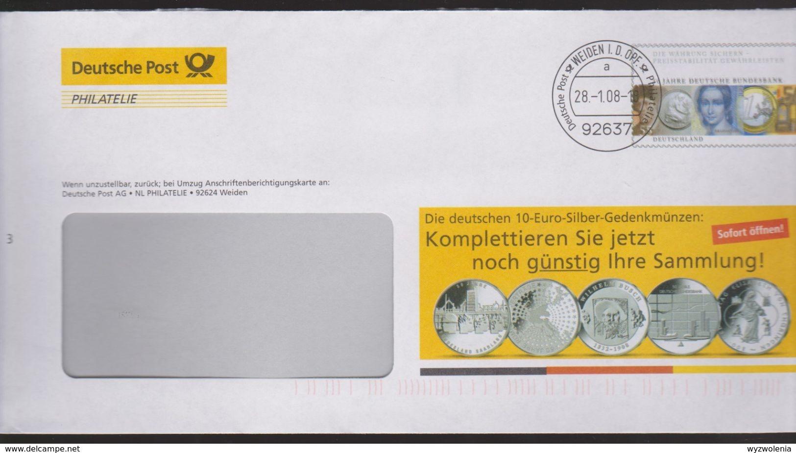 P 225) BRD Ganzsache 2008 Dt Post Philatelie: WSt Bundesbank Mit Doppeldruck Der Schwarzen Farbe Auf Ganzsache ! - [7] Repubblica Federale