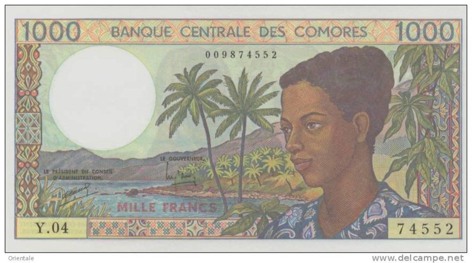 COMOROS P. 11b 1000 F 1994 UNC (s. 9) - Comoren