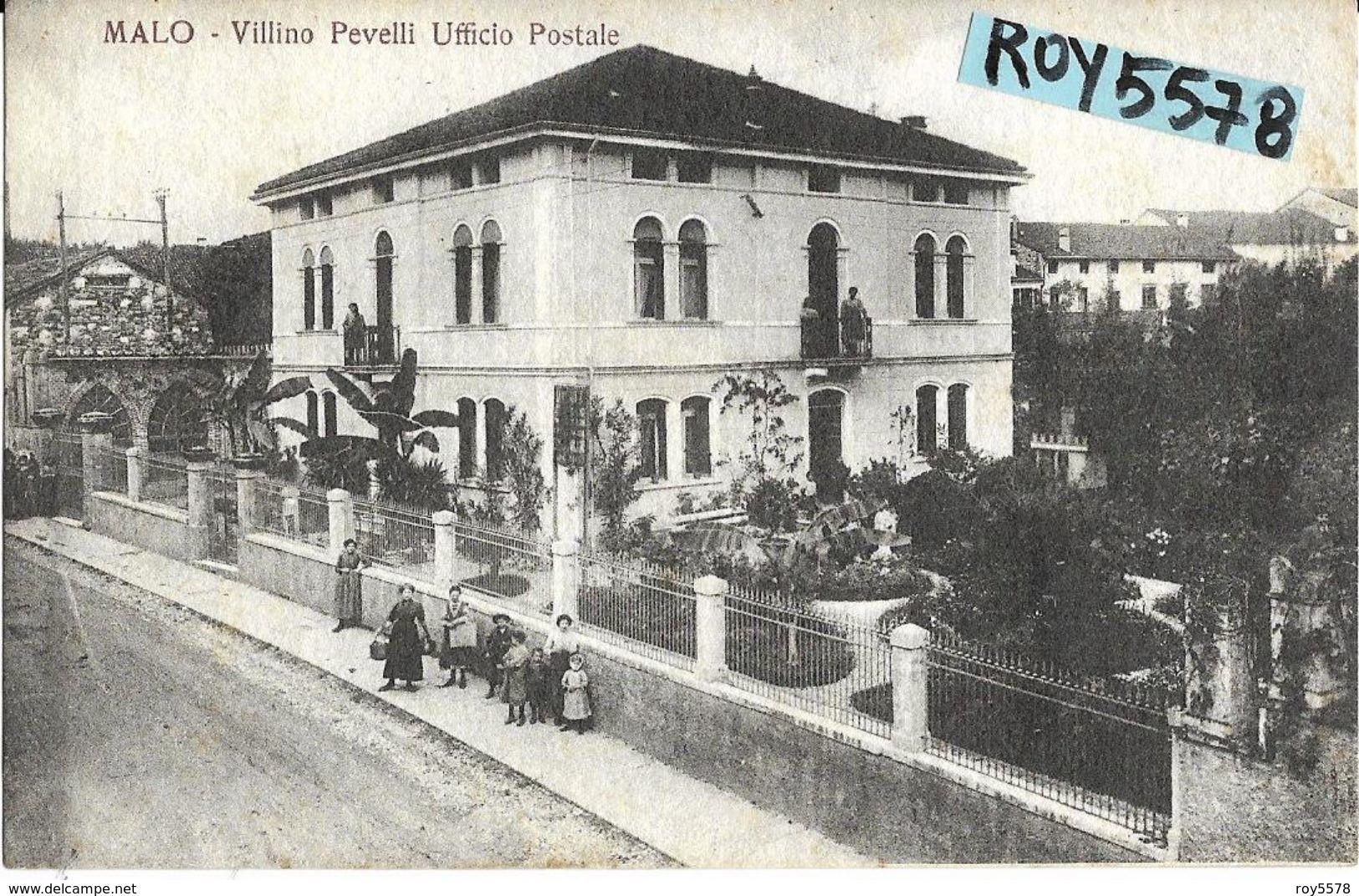 Veneto-vicenza-malo Veduta Villa Pevelli Ufficio Postale - Italia
