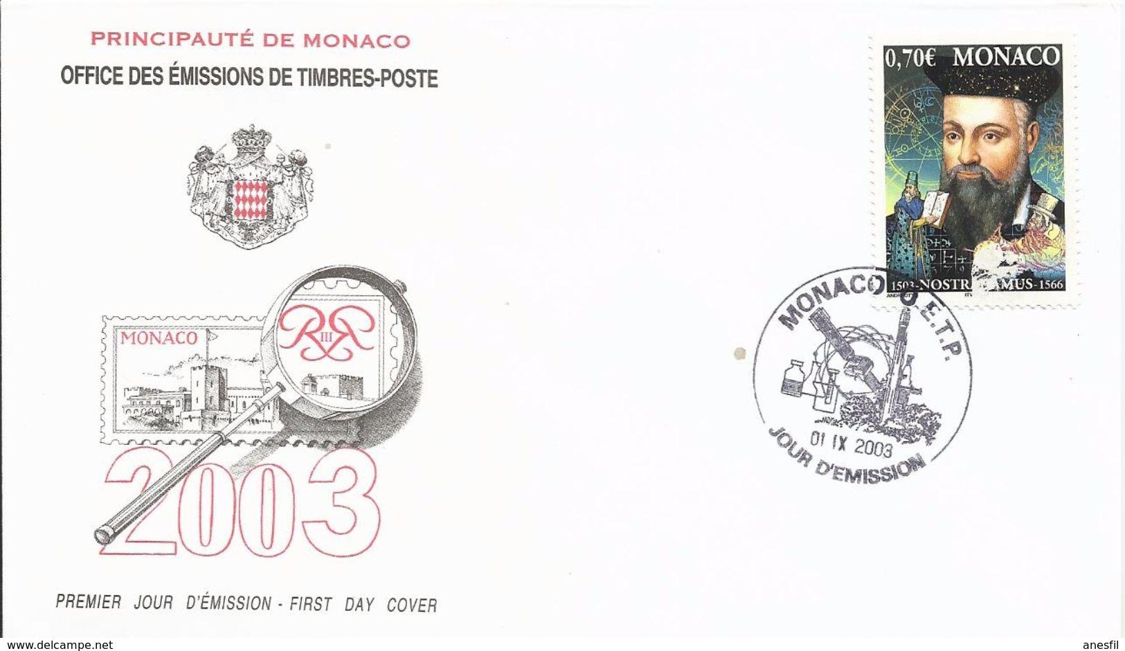 Mónaco. 2003. Nostradamus - FDC