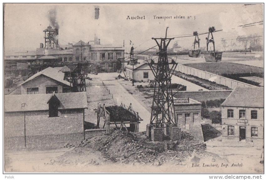 Bk - Cpa Auchel - Transport Aérien N° 5 (mine De Charbon) - France