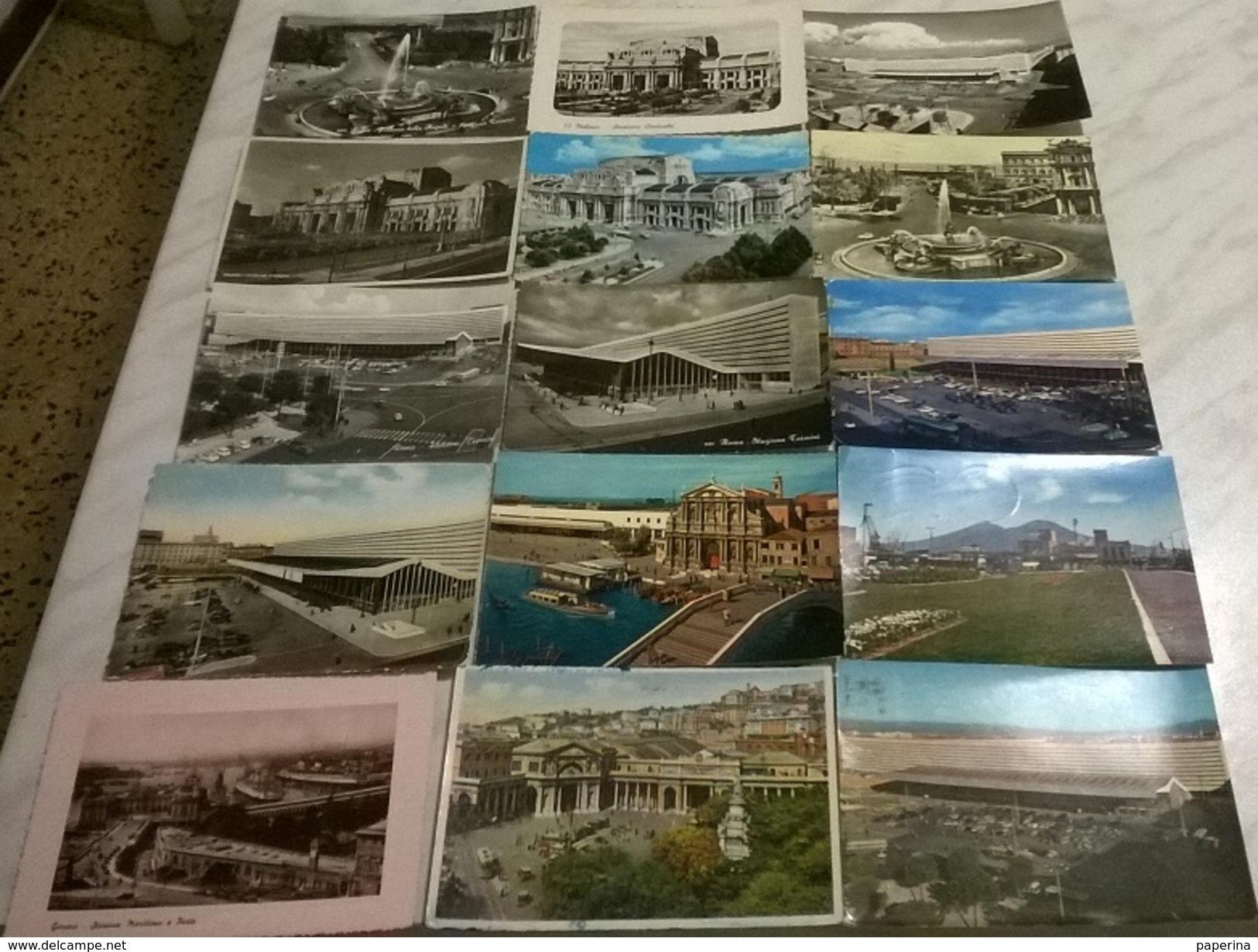 15 CART. DIVERSE: STAZIONI FF.SS.  (9) - Cartes Postales