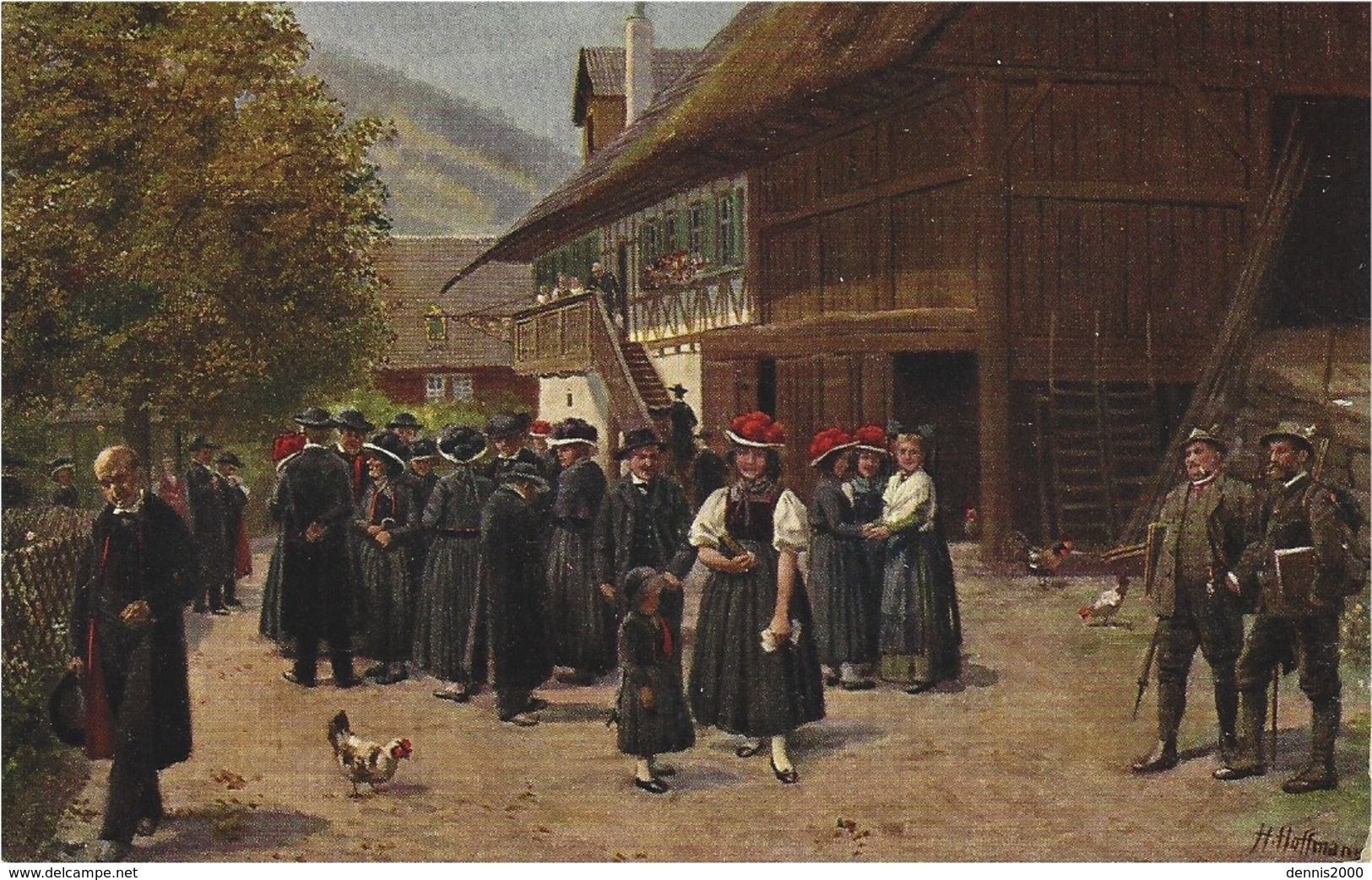 Nach Der Kirche - Verlag Von Edm. Von König, Heidelberg Signed H. Hoffmann - Sonstige