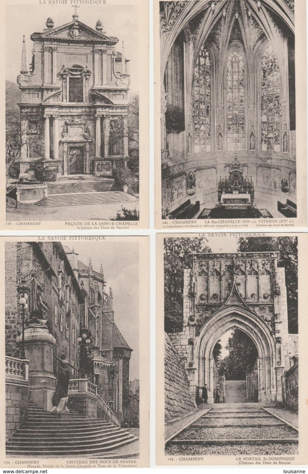 17 / 11 / 230  -LOT  DE  15  CP  DE  CHAMBÉRY  ( 73 )  Toutes Scanées - Cartes Postales