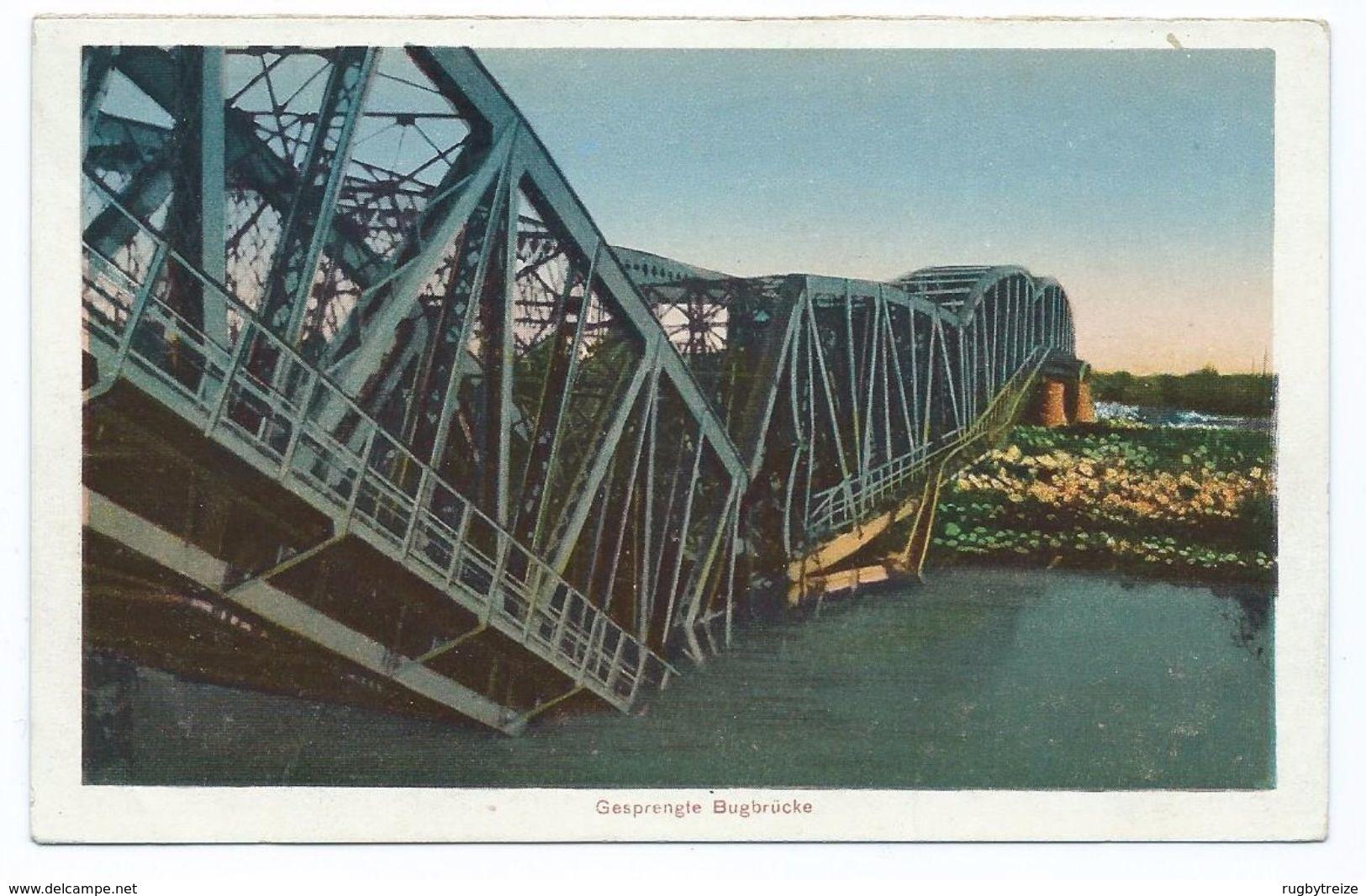 2930 Pont Bridge Brest Litovsk Gesprengle Bugbrucke 1917 WW1 Bombardement War Guerre - Belarus