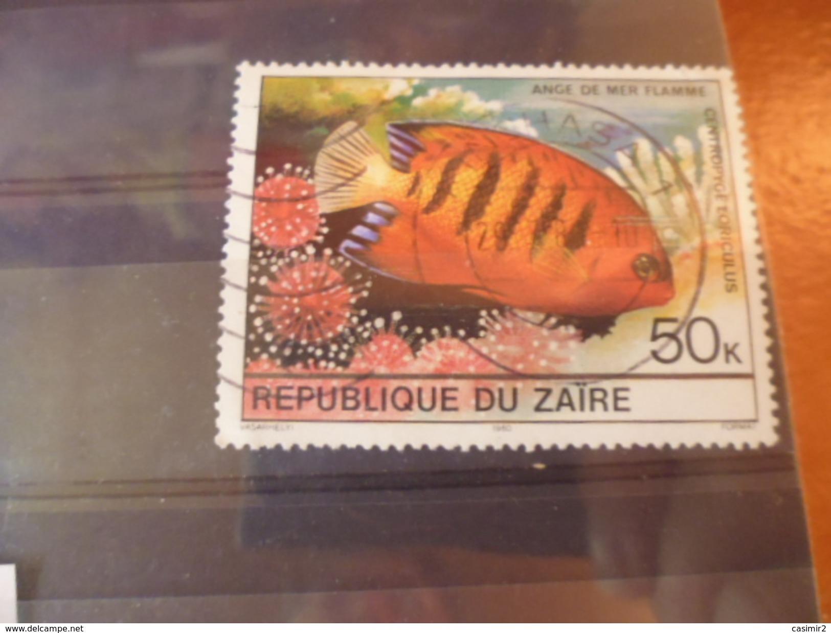 ZAIRE TIMBRE N°665 - 1980-89: Oblitérés