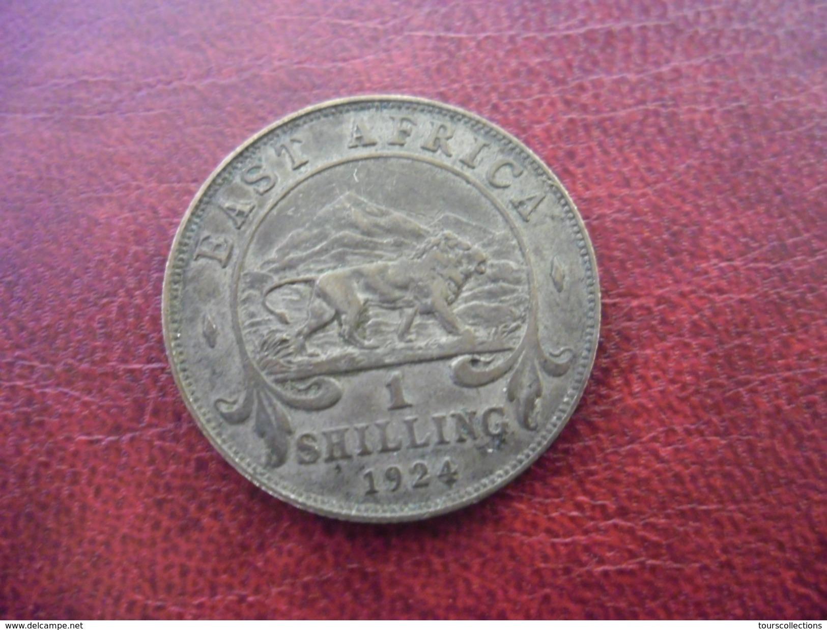 1 Shilling Argent 1924 EAST AFRICA - Georges V - Colonie Britannique - Lion @ Voir Les 2 Photos - British Colony