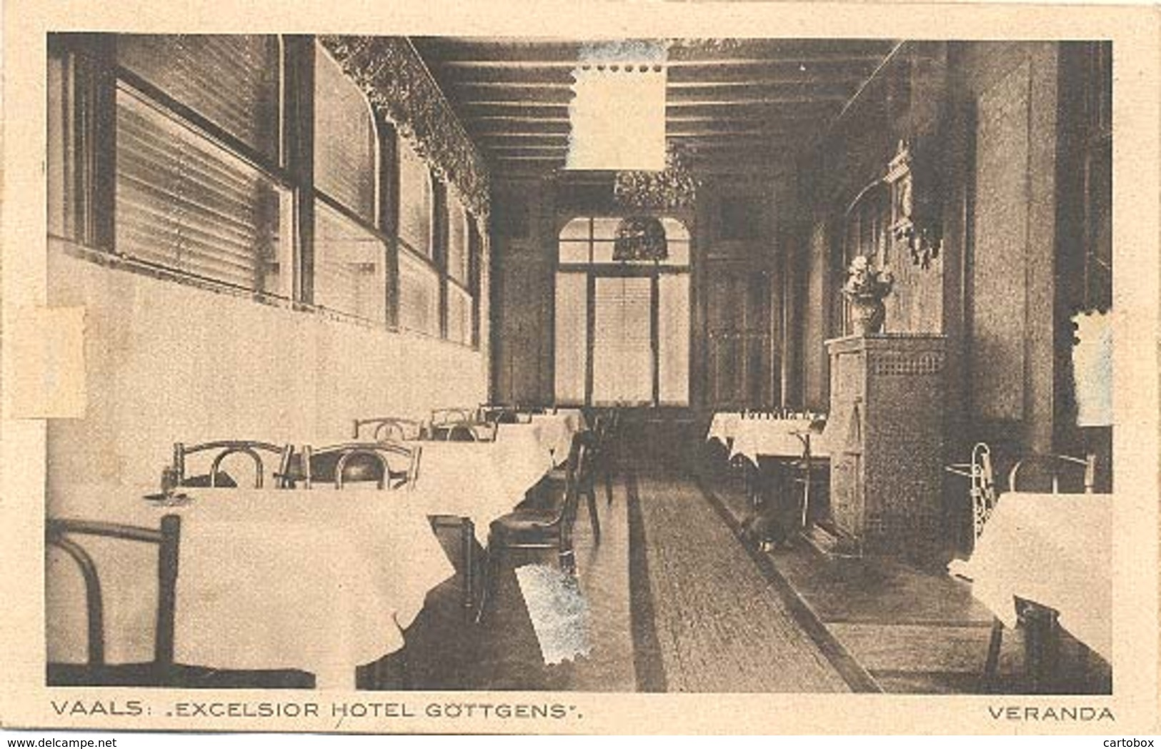 Vaals, Excelsior Hotel Gottgens, Veranda ( 2 X Scan)  (met Aantekenstrookje) - Vaals