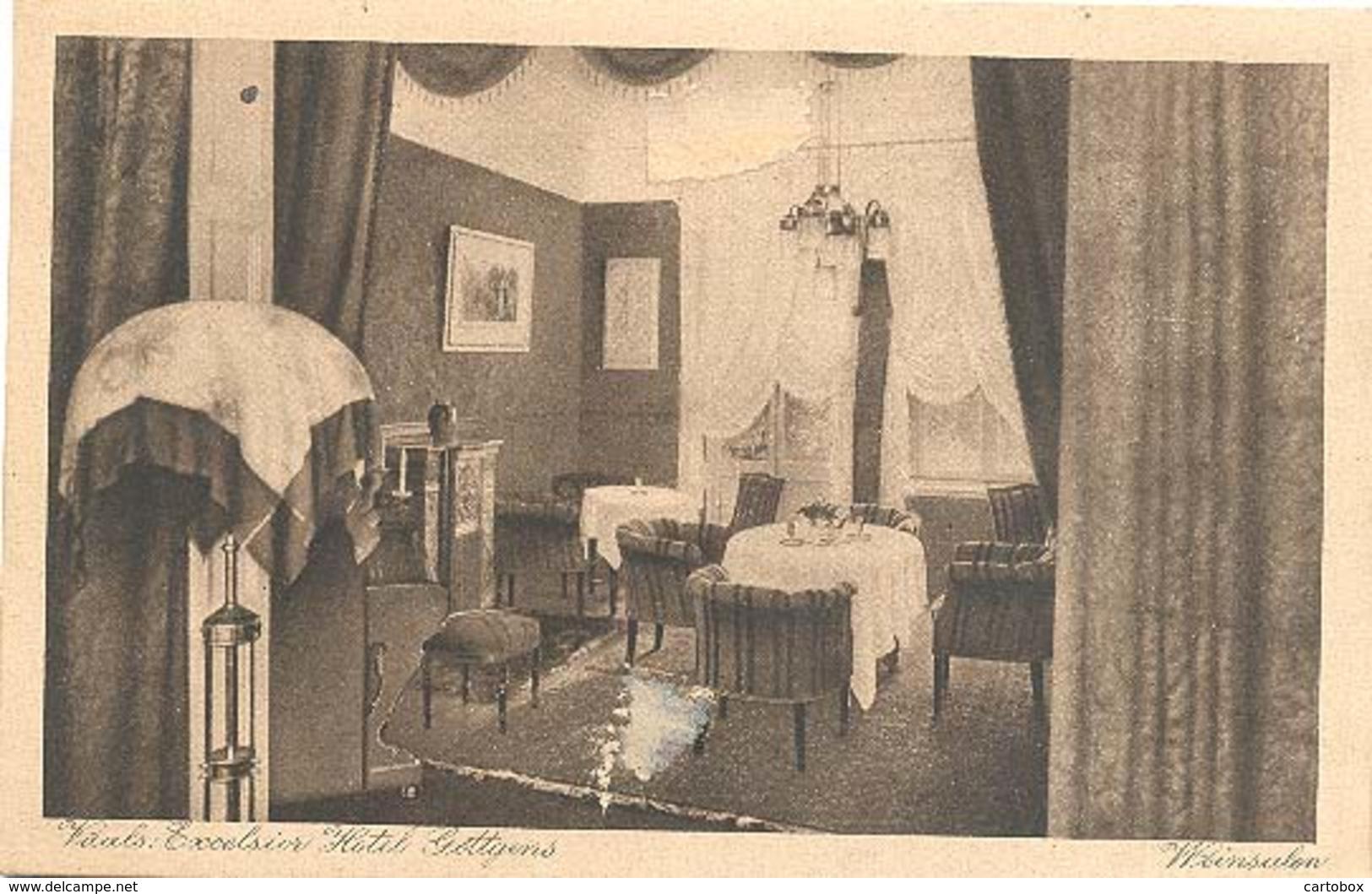 Vaals, Excelsior Hotel Gottgens, Weinsalon  ( 2 X Scan)  (met Aantekenstrookje) - Vaals