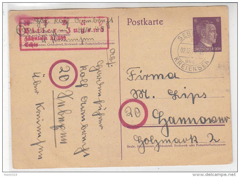 GS Der Hitlerjugend 21/599 Aus SEBEXEN über Kreiensen 2.12.44 - Briefe U. Dokumente