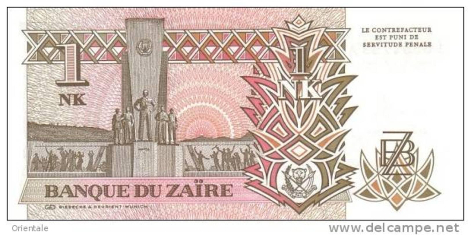 ZAIRE P. 47a 1 L 1993 UNC - Zaire