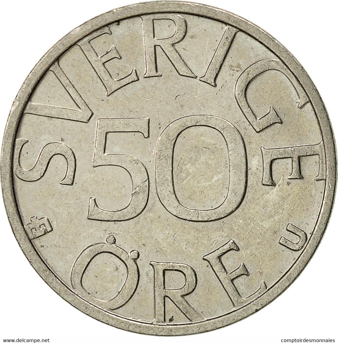 Suède, Carl XVI Gustaf, 50 Öre, 1983, TTB+, Copper-nickel, KM:855 - Suède