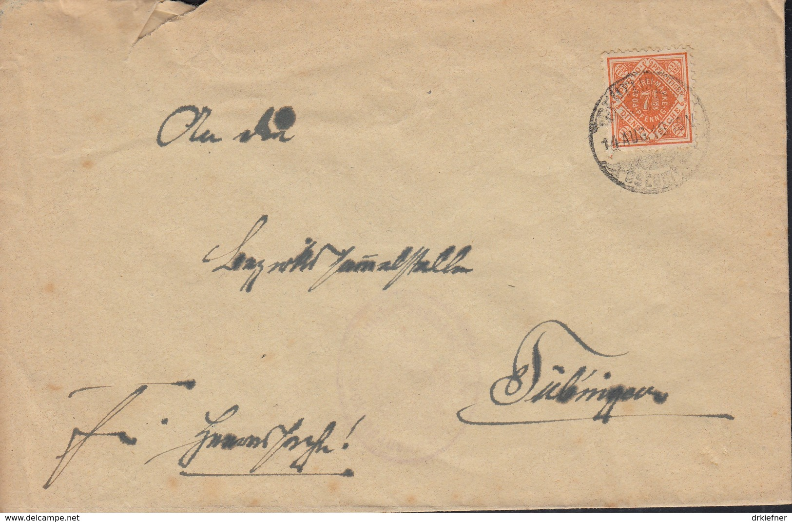 INFLA Württemberg Dienstpost 120 EF Auf Brief Mit Stempel:  Reutlingen 14.8.1918 - Wuerttemberg