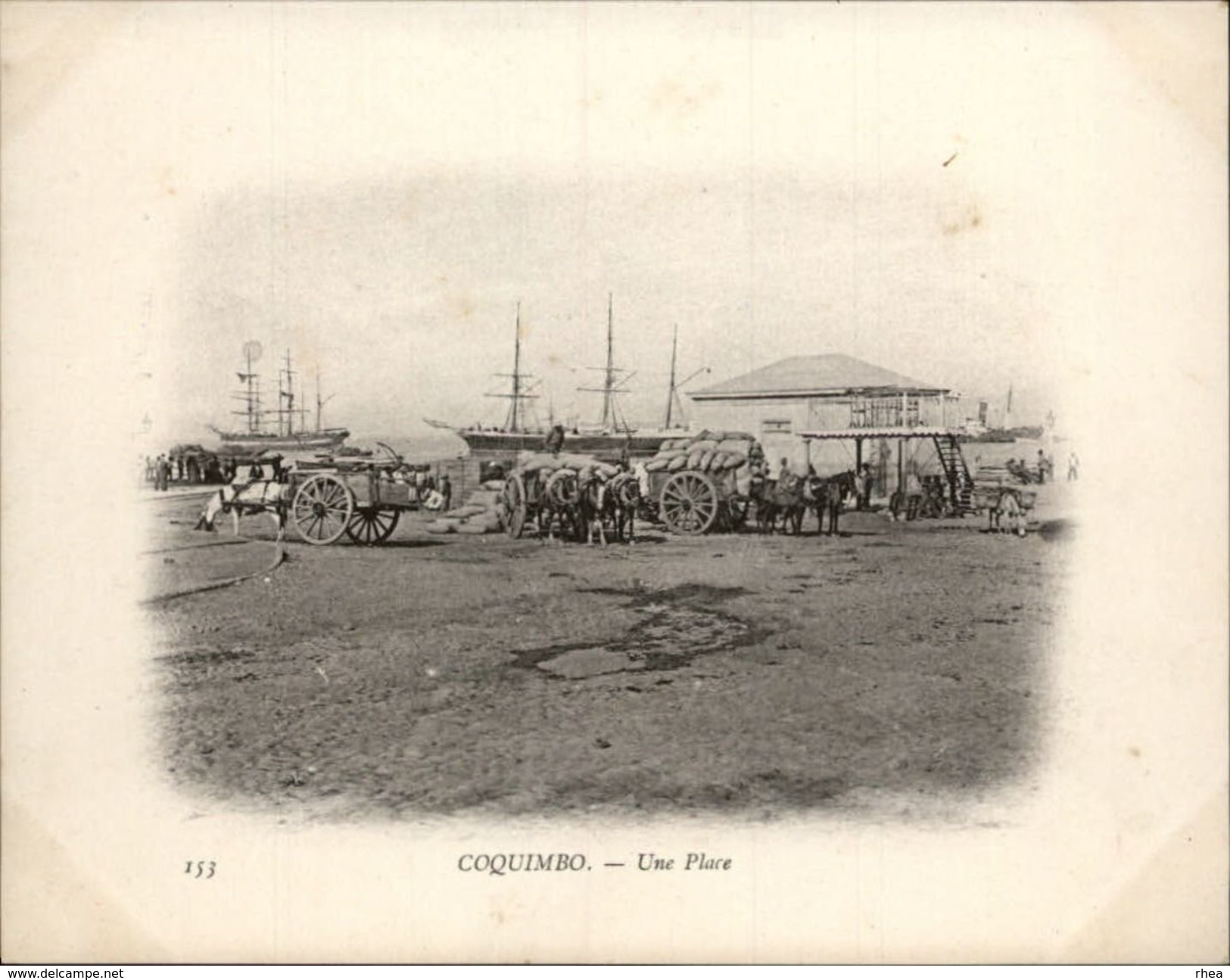 Campagne DUGUAY-TROUIN 1902-1903 - Voilier - Expédition - CHILI - COQUIMBO - Attelage Chevaux - Chili