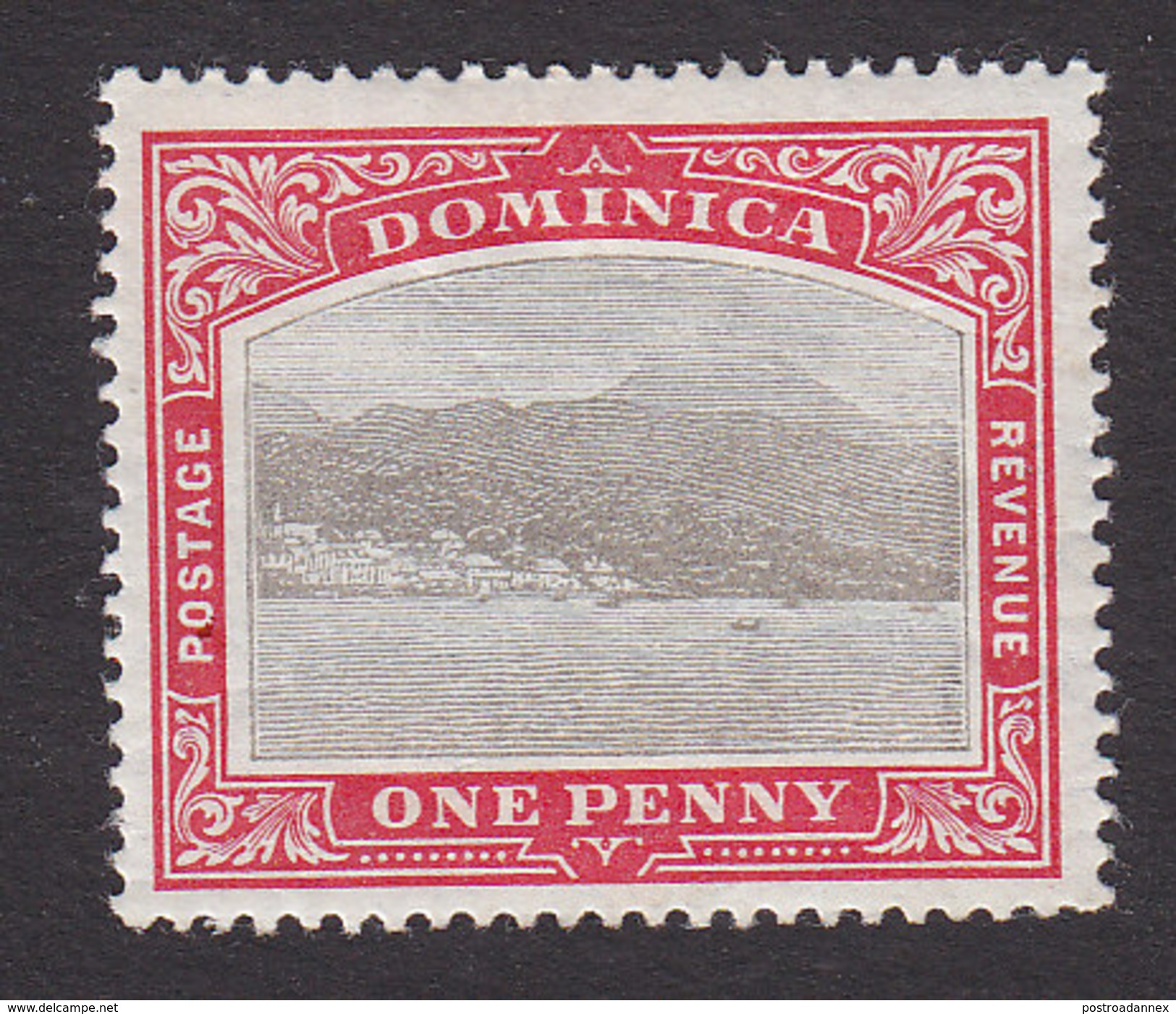 Dominica, Scott #23, Mint Hinged, Roseau, Capital Of Dominica, Issued 1903 - Dominica (...-1978)