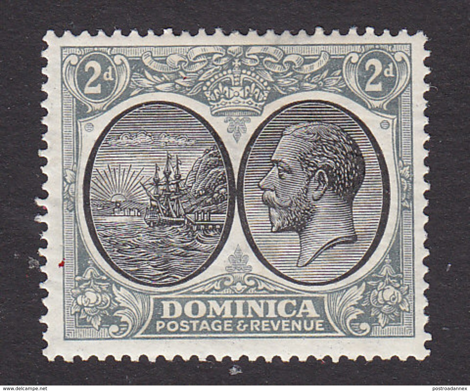 Dominica, Scott #70, Mint Hinged, Seal Of The Colony And George V, Issued 1923 - Dominica (...-1978)