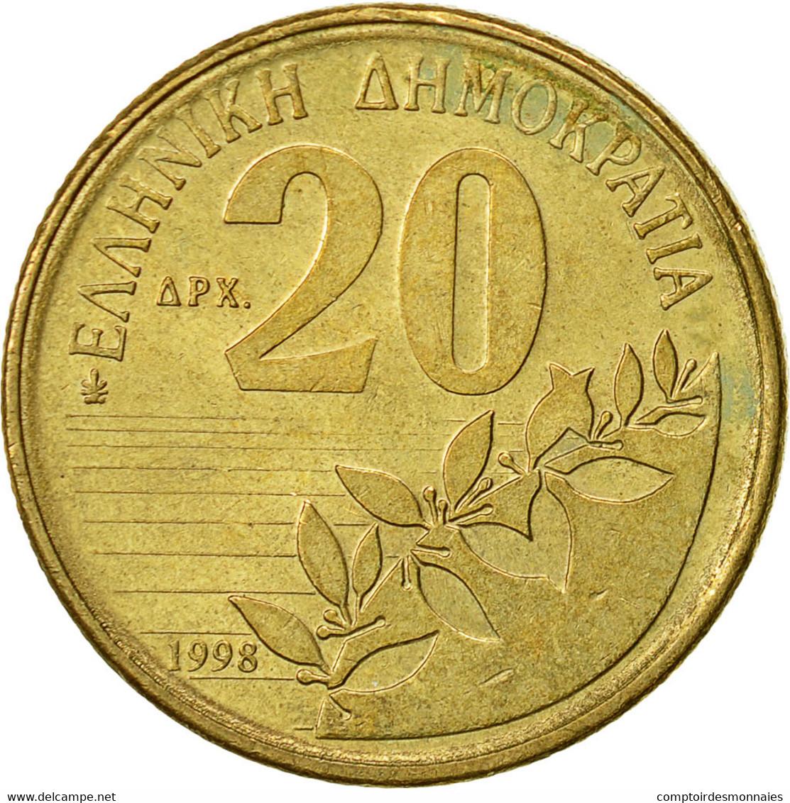 Grèce, 20 Drachmes, 1998, TTB+, Aluminum-Bronze, KM:154 - Grèce