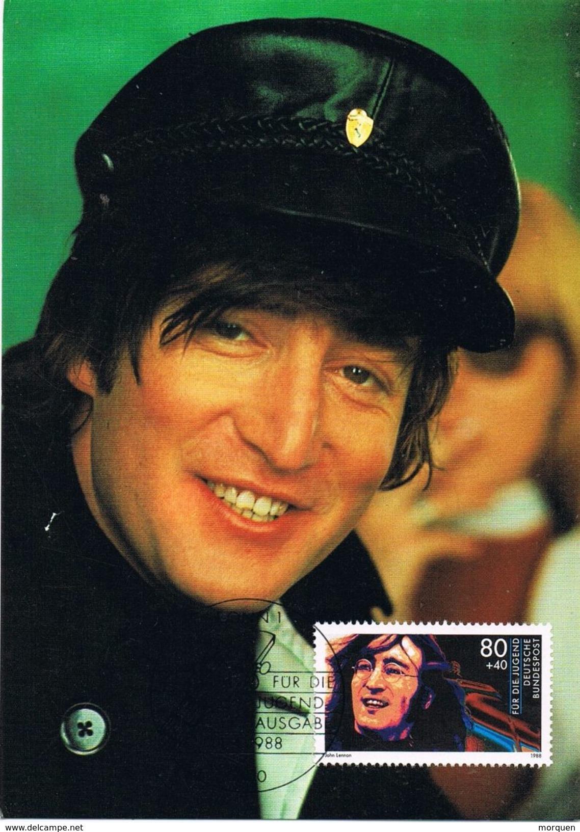 26386. Tarjeta Maxima BONN (Alemania Federal) 1988. JOHN LENNON. Beatles. Musik - [7] República Federal