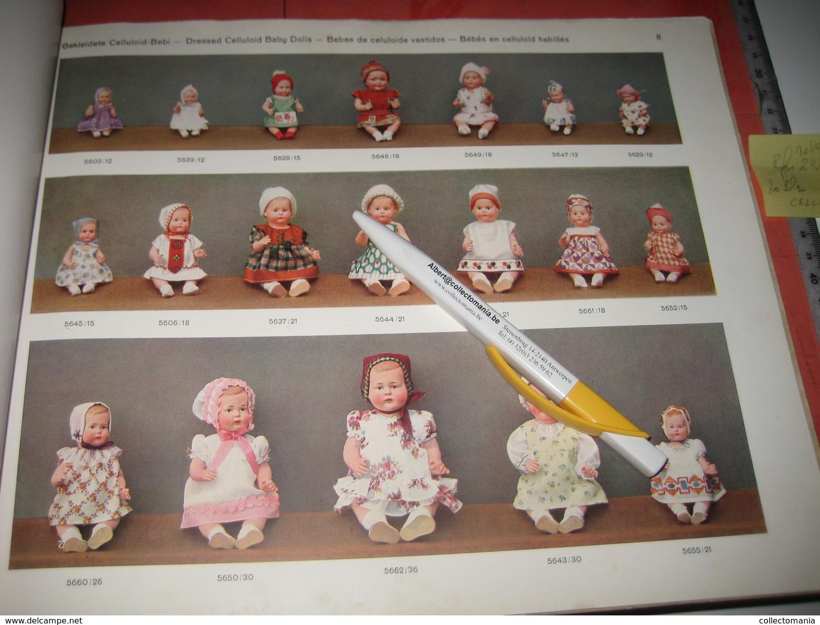 MINERVA 1930 Catalogue  Puppen Und Spielwaren NOSSEN,- BUSCHOW & BECK Metal Doll Heads, & Celluloide Poupées, Nossi Exc - Sonstige