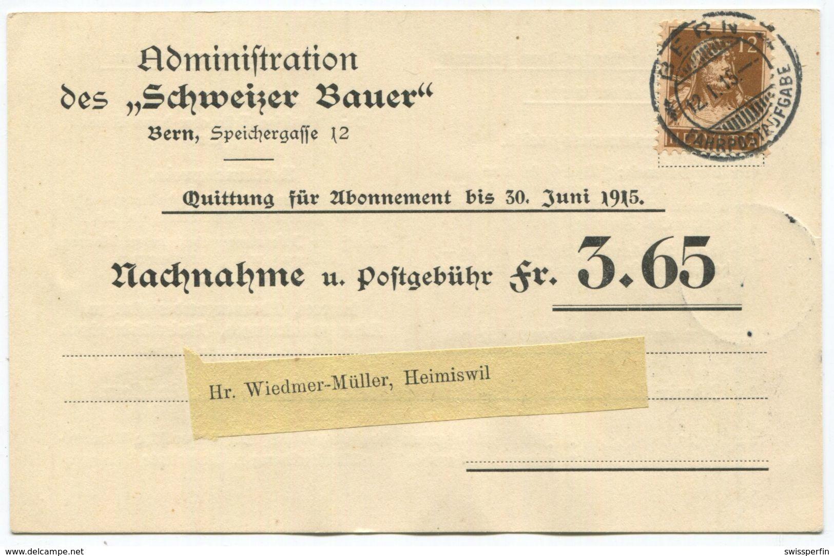 1715 - Seltene 12 Rp. Tell EF - Portorichtige Verwendung Nur Während Ca. 6 Monaten Möglich! - Schweiz