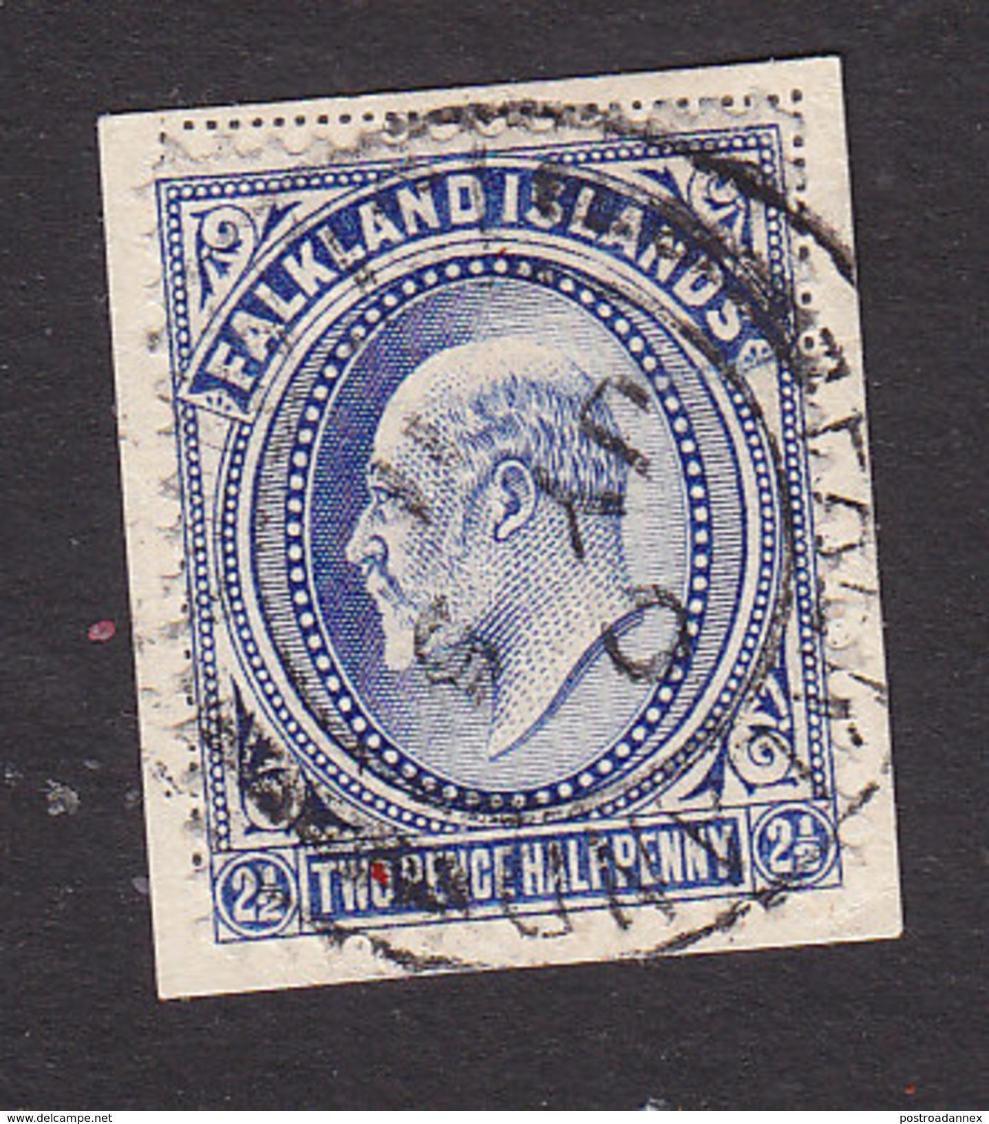 Falkland Islands, Scott #25, Used, Edward VII, Issued 1904 - Falkland Islands