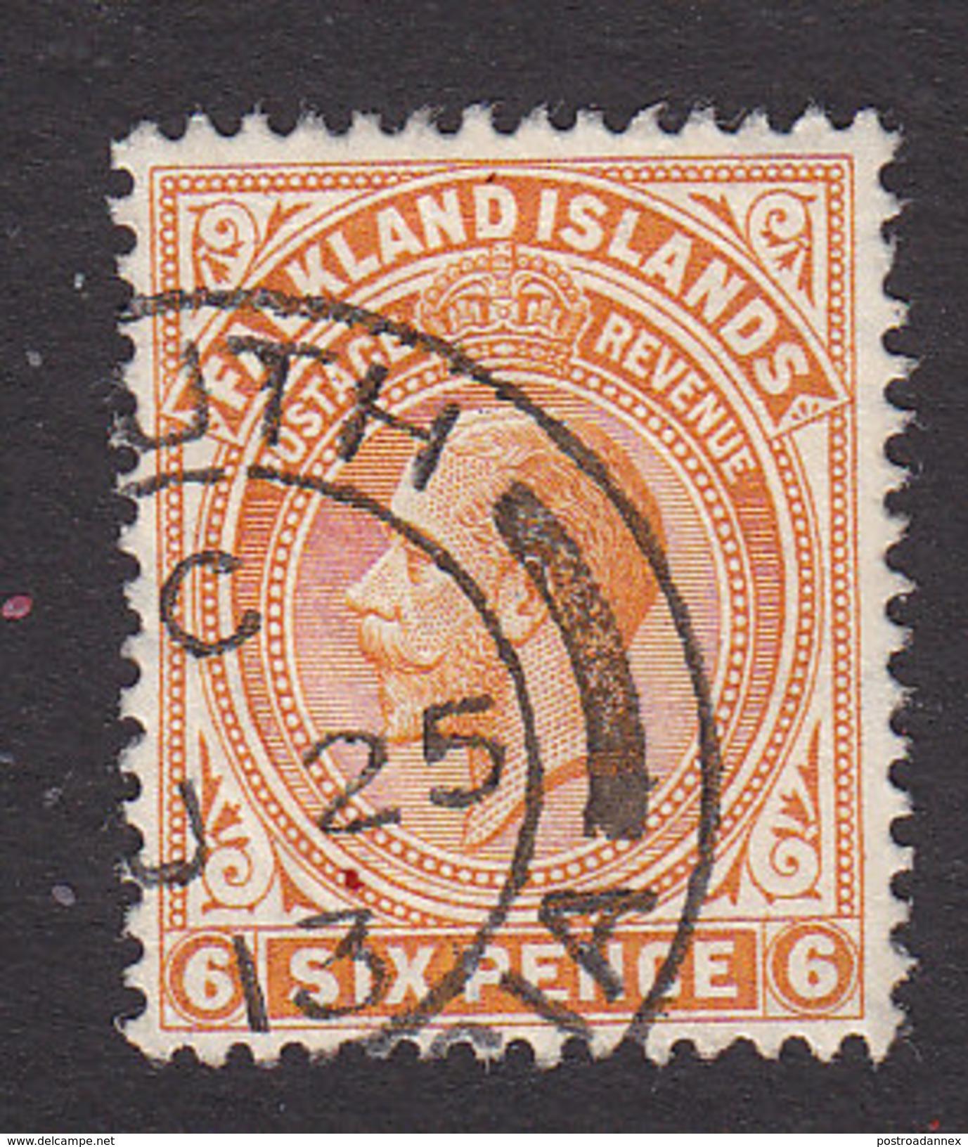 Falkland Islands, Scott #34, Used, George V, Issued 1912 - Falkland Islands