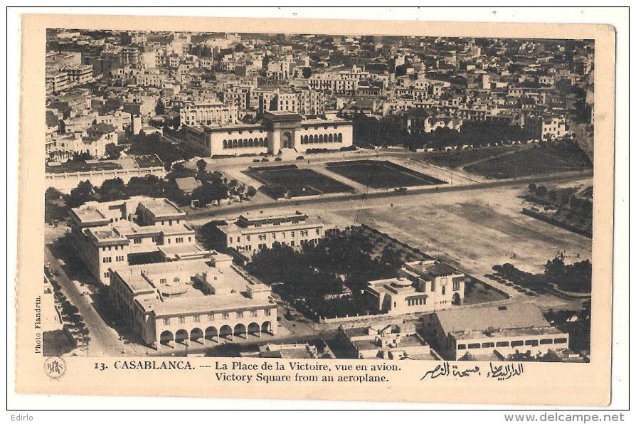 *** MAROC ***  CASABLANCA  La Place De La Victoire Vue En Avion  TTB Neuve - Casablanca