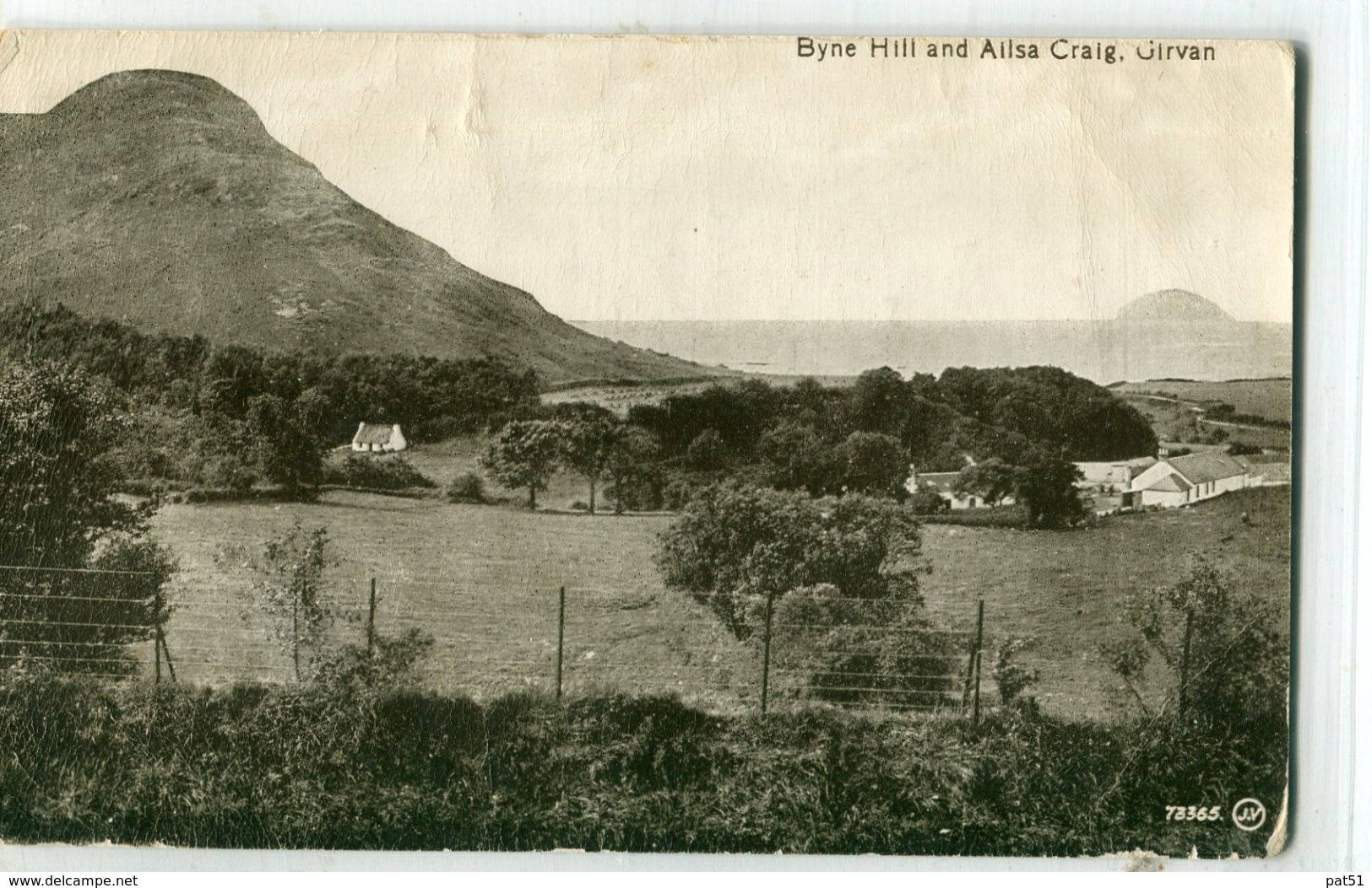 UNITED KINGDOM / ROYAUME - UNI - Girvan : Byne Hill And Allsa Craig - Ayrshire