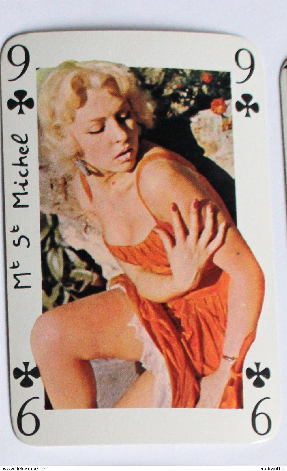 Carte à Jouer érotique Pin Up Mont Saint Michel Sourires De France Belotte Tierce - Cartes à Jouer