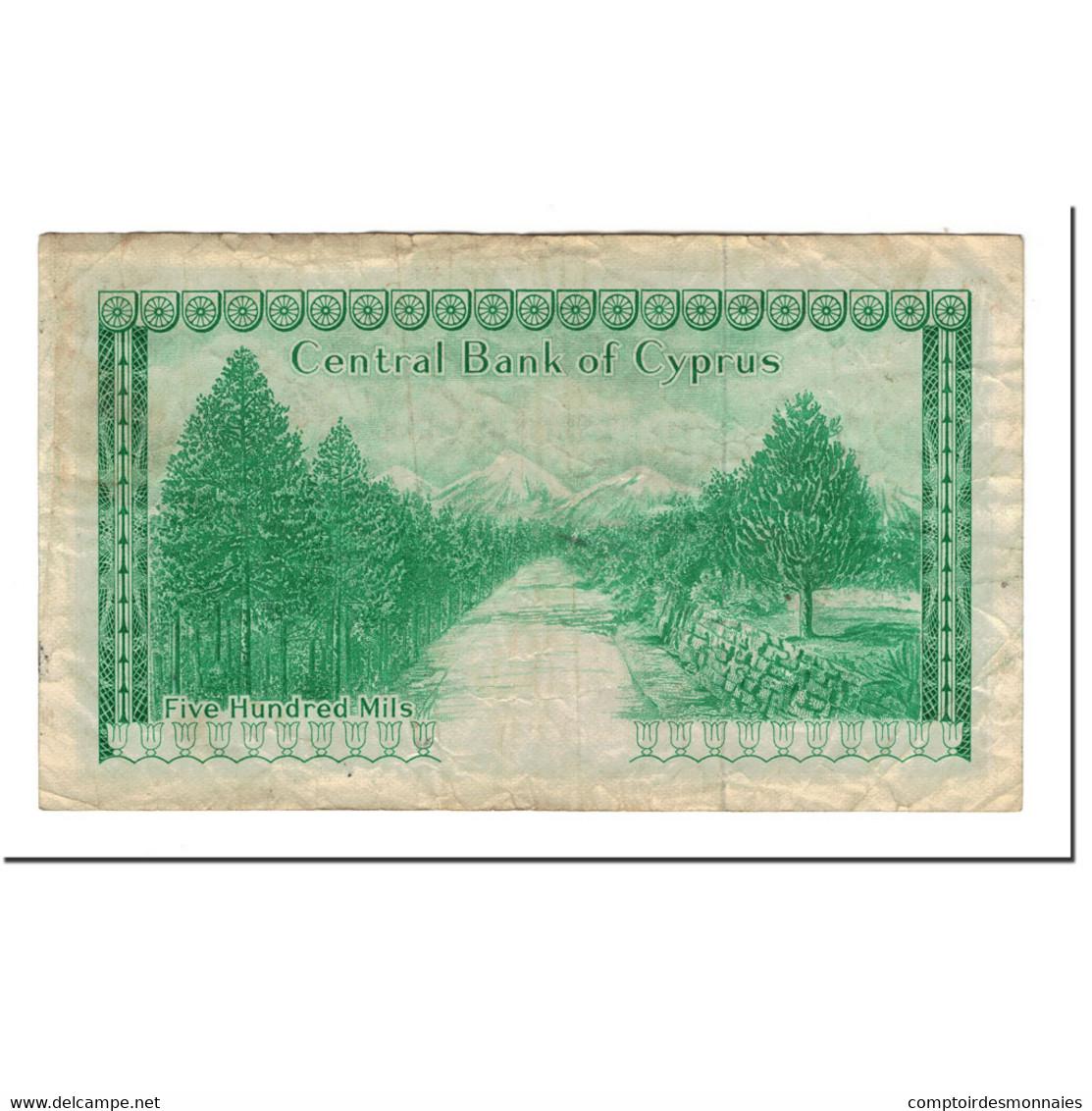 Chypre, 500 Mils, 1979-09-01, KM:42c, TTB - Chypre