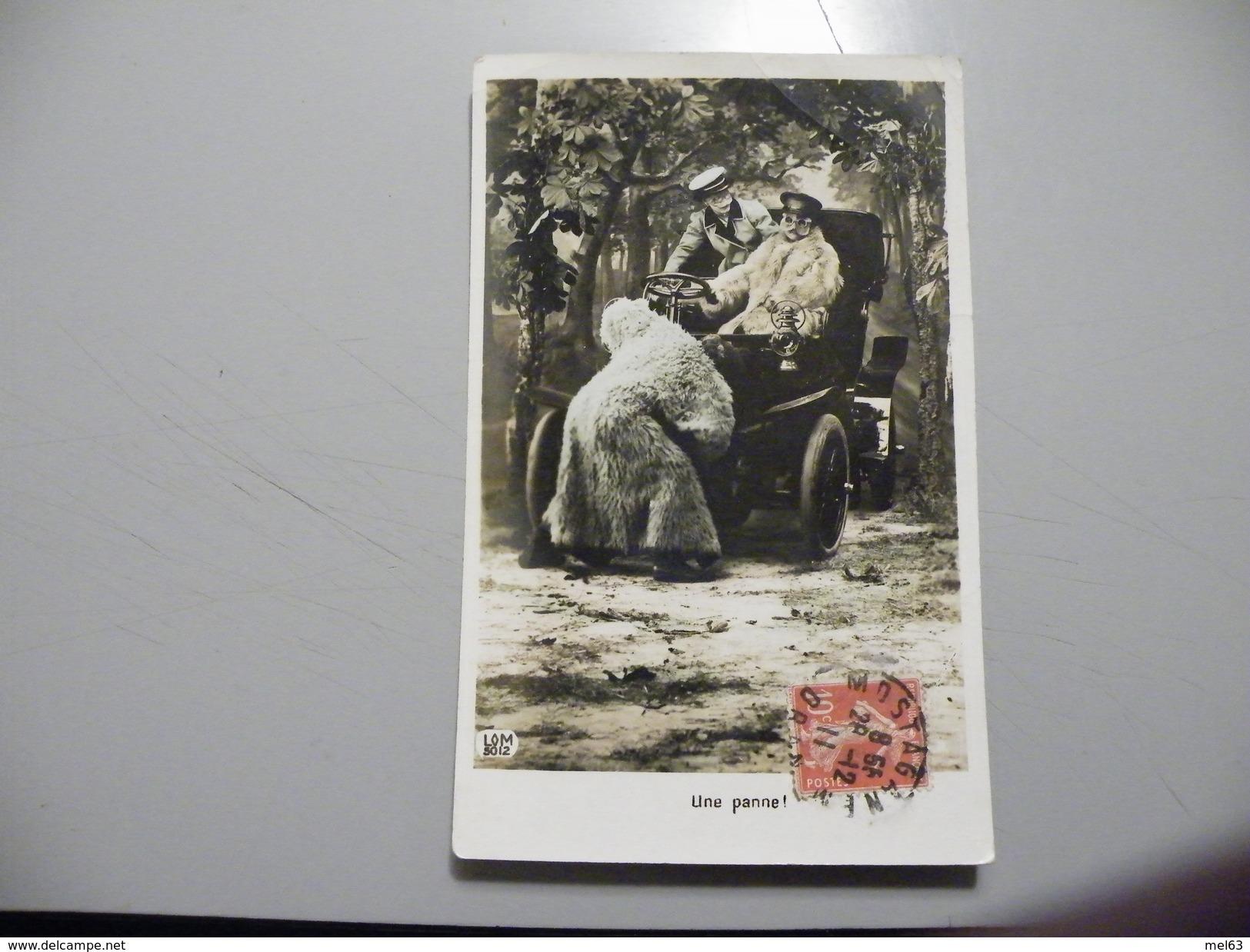 A447. CPA. Thème Automobile. Une Panne!! Beau Plan Animé.  écrite & Voyagée 1911 - Taxi & Carrozzelle