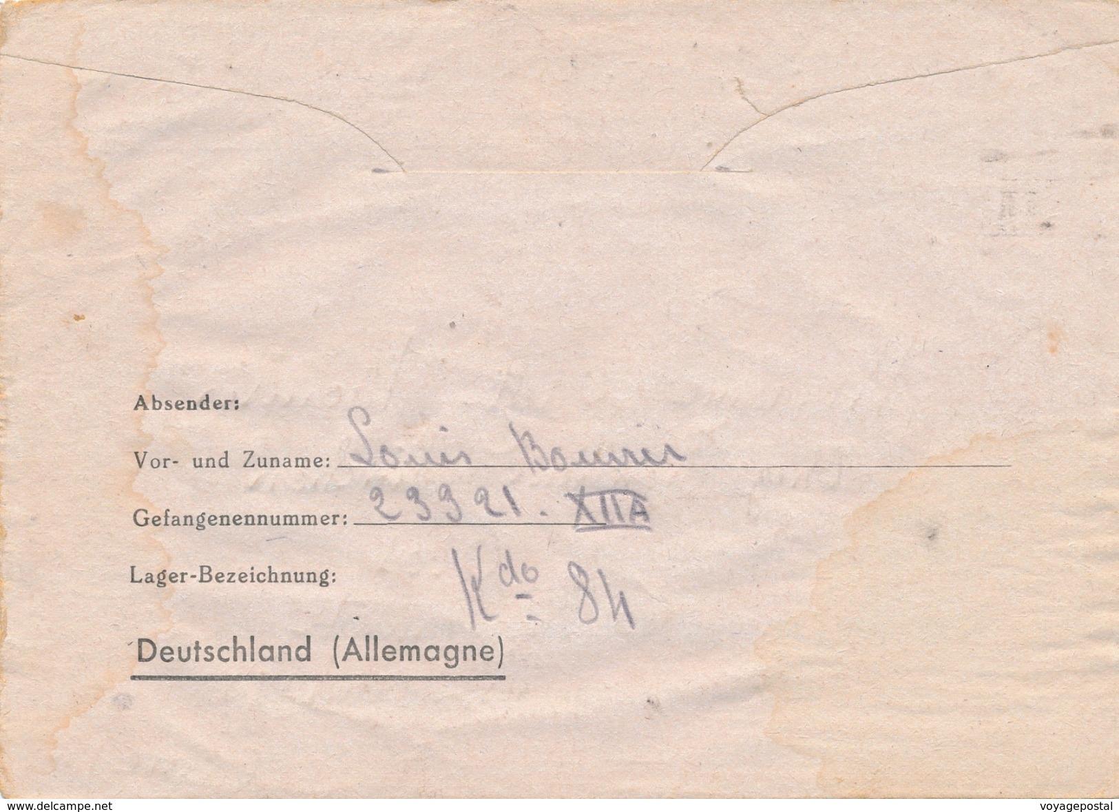 Carte General Post Via Grande Bretagne Stalag III A Limburg - Guerra De 1939-45