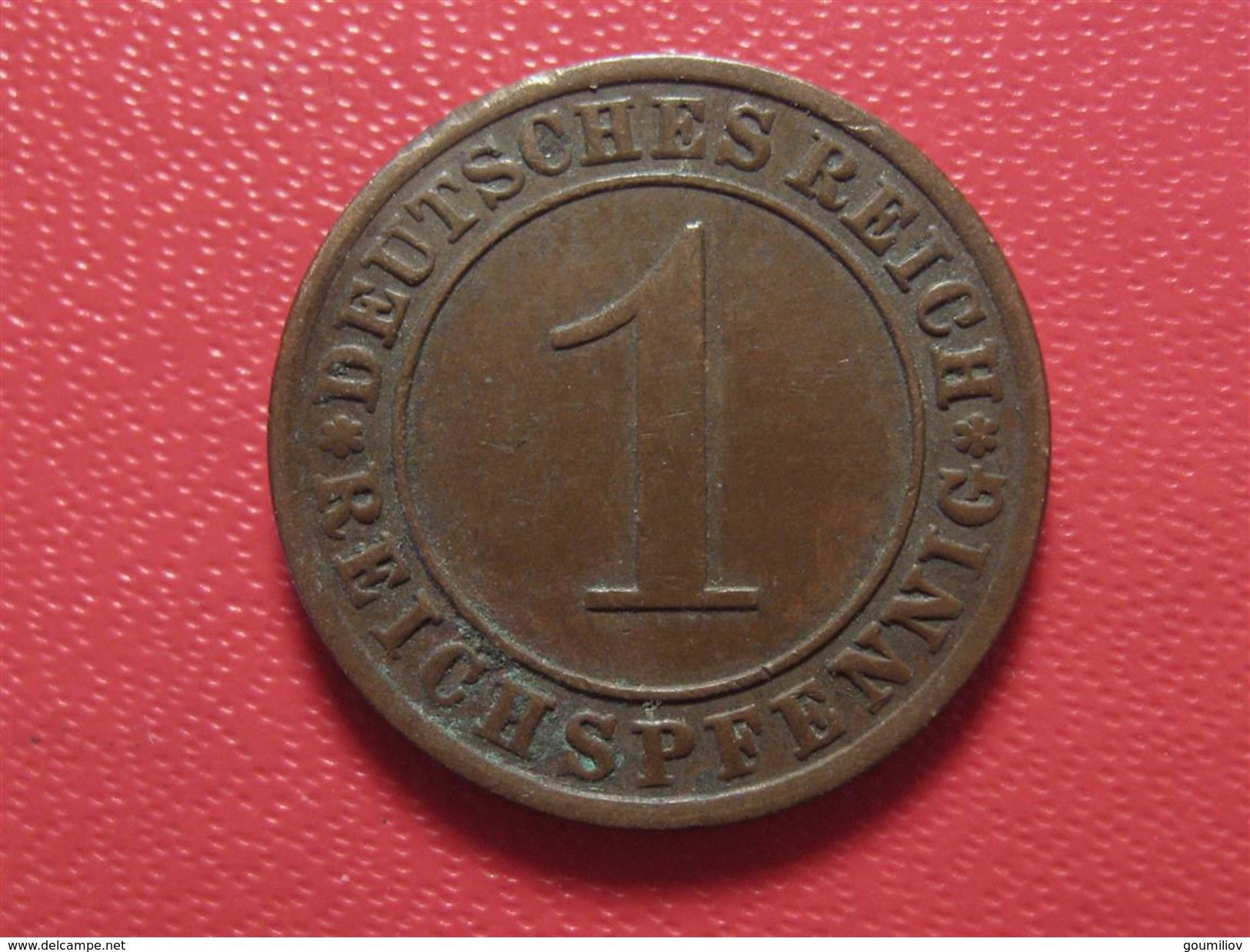 Allemagne - 1 Reichspfennig 1932 A 4015 - [ 3] 1918-1933 : República De Weimar