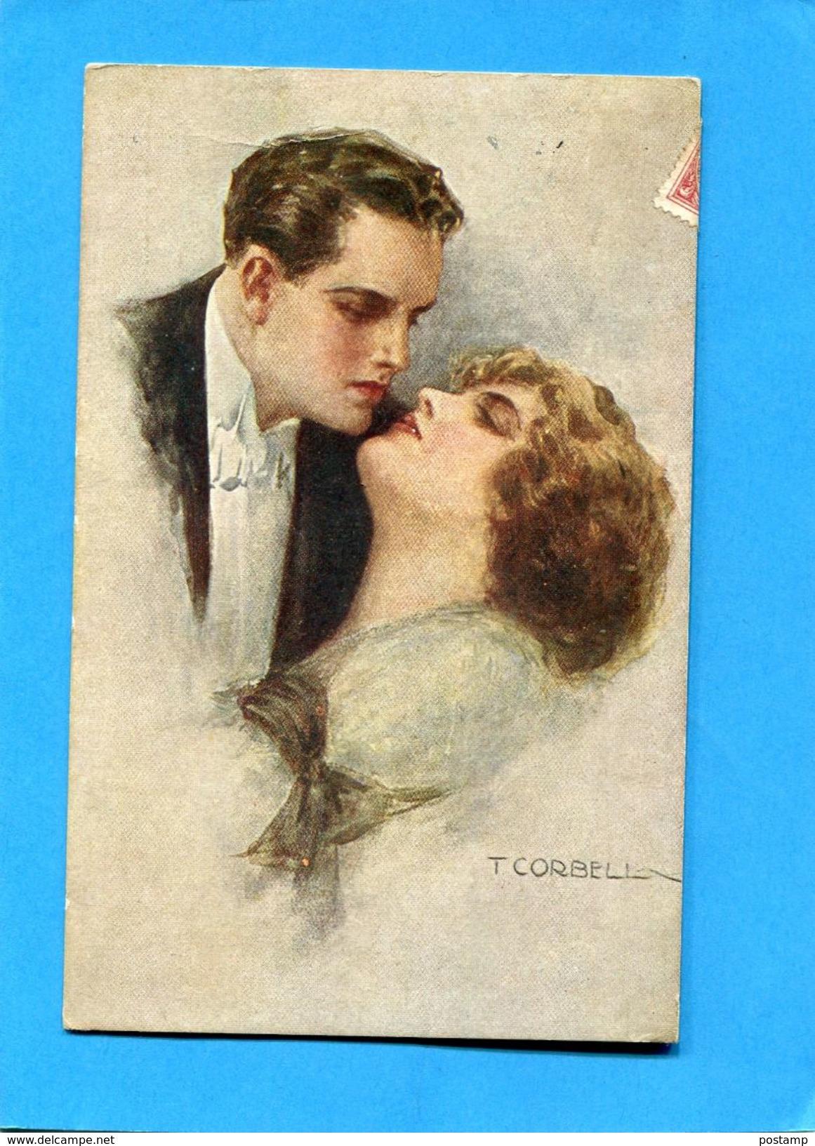 CORBELLA-SUPERBE étreinte-carte Italienne    --a Voyagé En 1917-édition - Corbella, T.