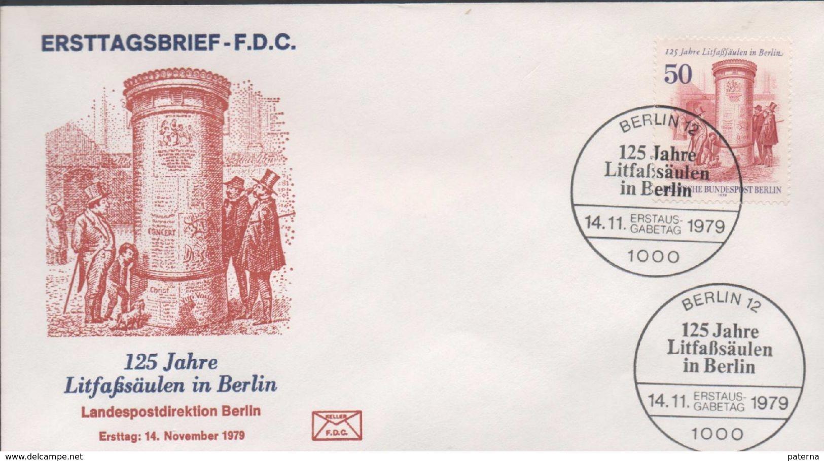 3200   FDC  Berlin 1979, Columna De Publicidad, - FDC: Sobres