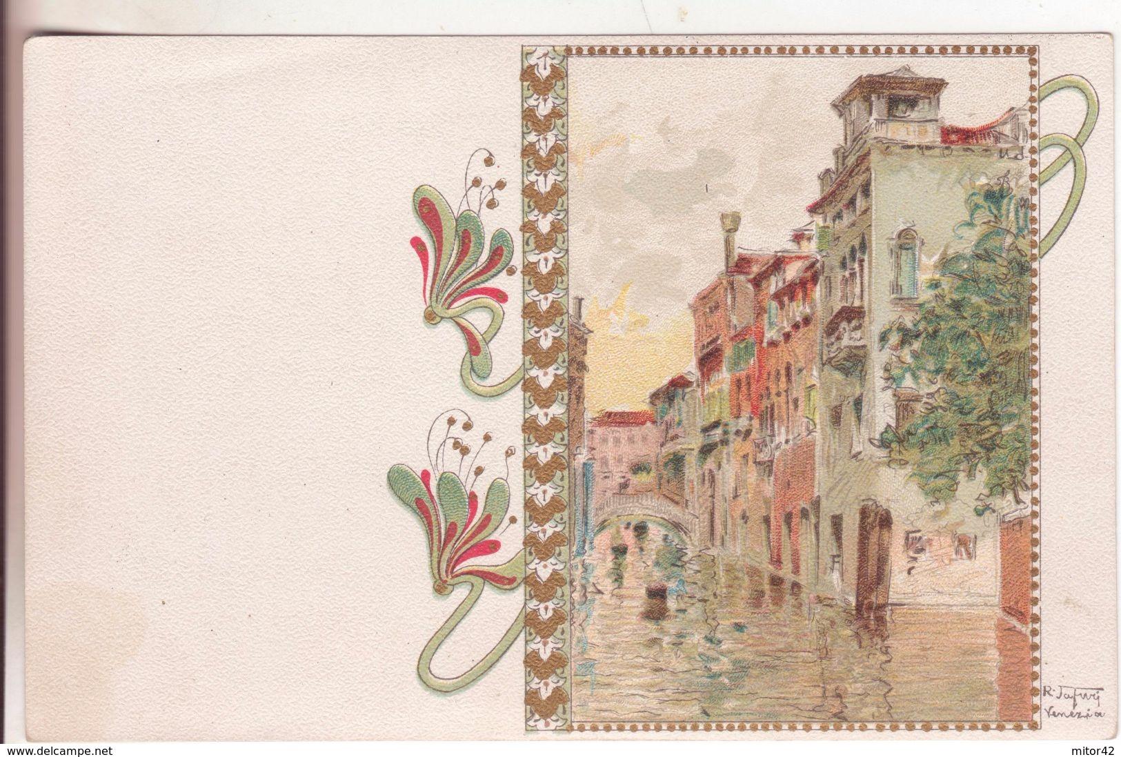 177-Illustratori-Cartolina Firmata R.Tafuri-Venezia-Veneto-Liberty-Nuova-Nouveau-New - Illustrateurs & Photographes