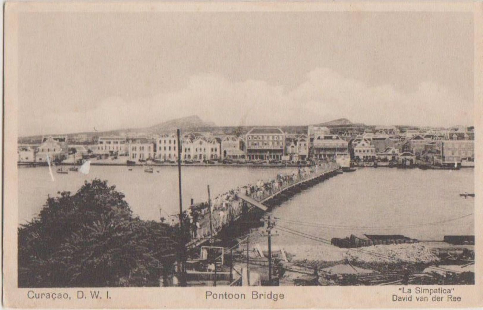 CPA CURACAO DUTCH D.W.I Pontoon Bridge - Curaçao