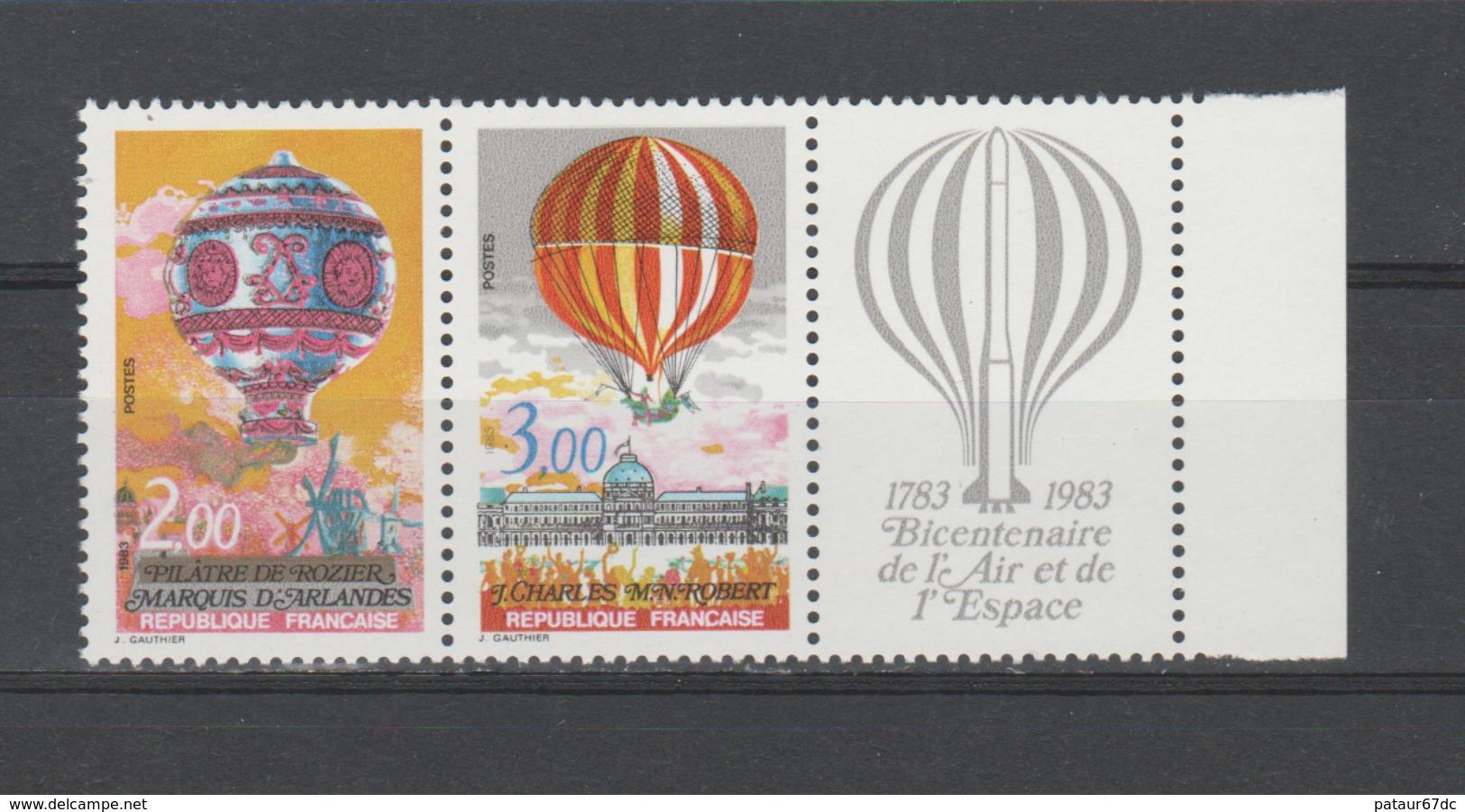 """FRANCE / 1983 / Y&T N° 2262A ** Ou P2262A ** : Paire """"Ballons"""" Avec Vignette - Gomme D'origine Intacte - Francia"""