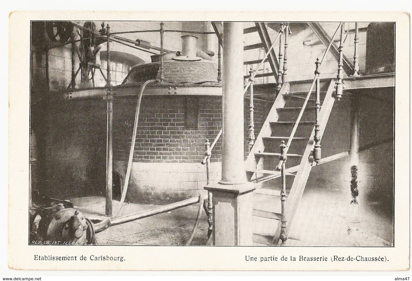Carlsbourg - Etablissement Une Partie De L'intérieur De La BRASSERIE  - Pas Circulé - REV. UN. INT. ILLUS. - Paliseul